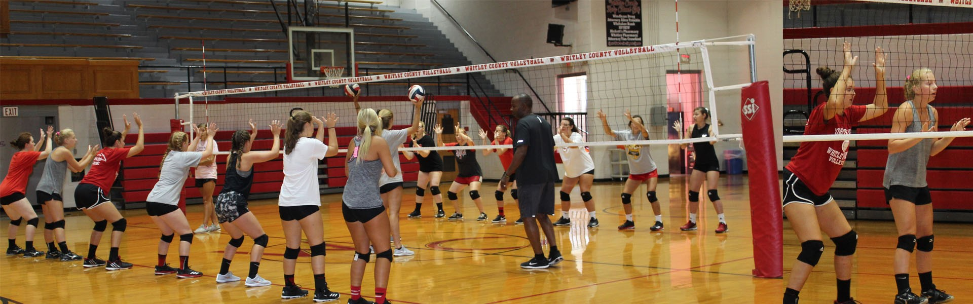 VOLLEYBALL Practice underway with new Head Coach Neysa Hernandez!