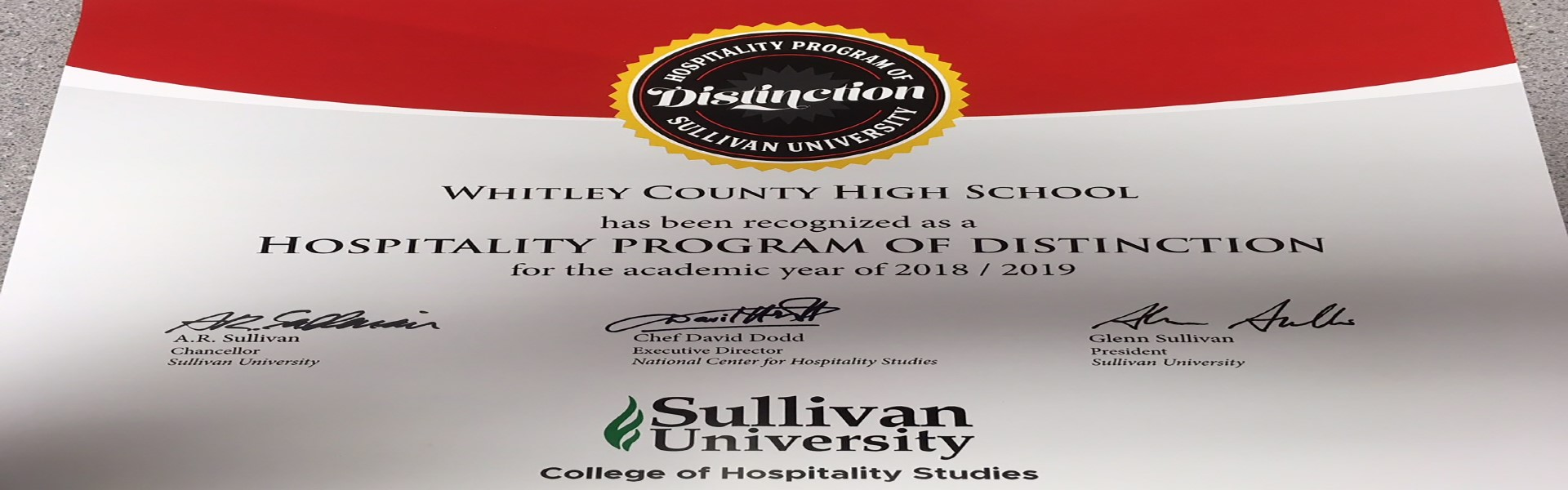 Hospitality Program of Distinction