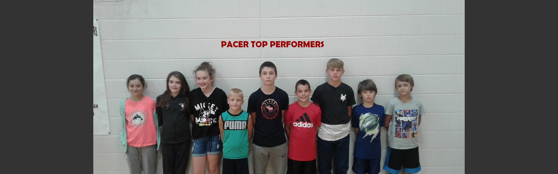 PACER TOP PERFORMERS
