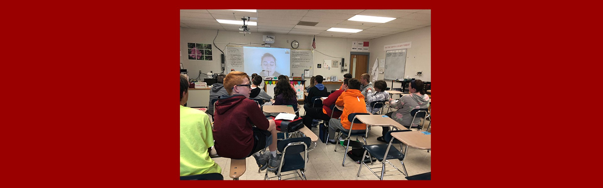 WCMS students skype with mechanical engineer