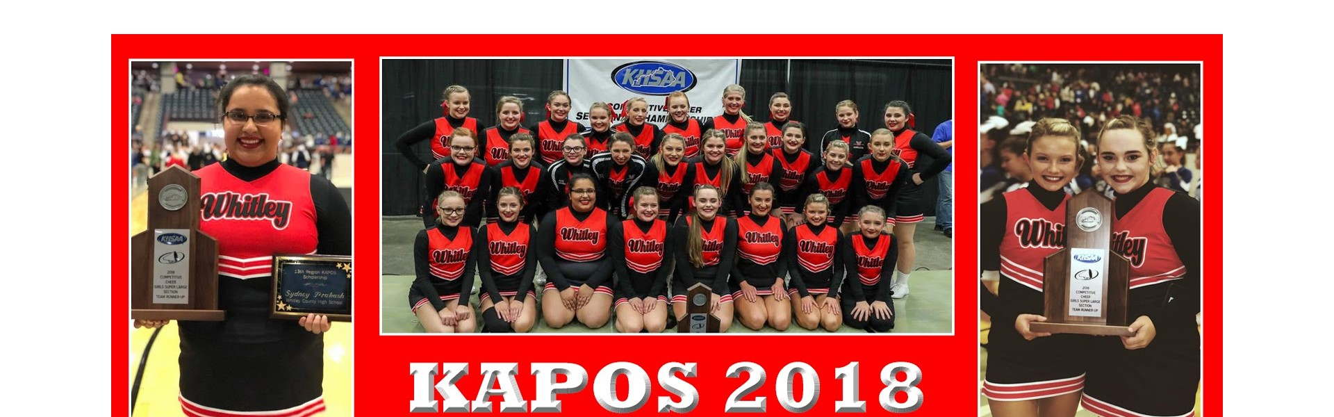WCHS Cheerleading KAPOS Runner-UP!