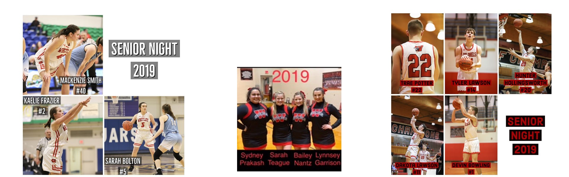 WCHS Senior Night 2019