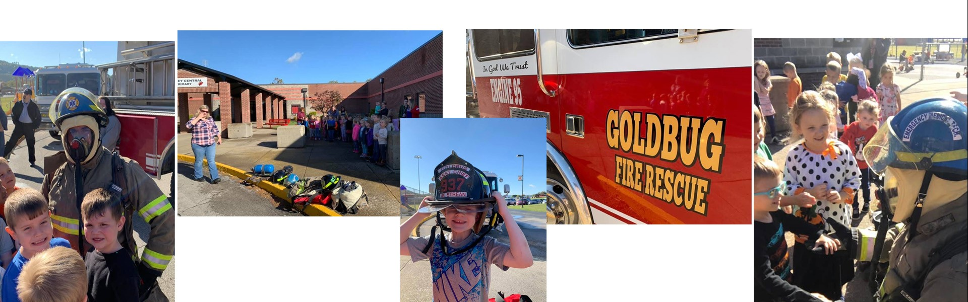 Thanks to Goldbug Fire Department for teaching students about fire safety!