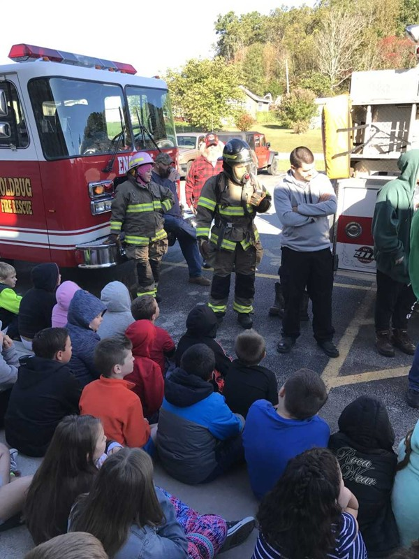 Learning the Importance of fire safety.