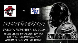 WCHS BLACK OUT FRIDAY