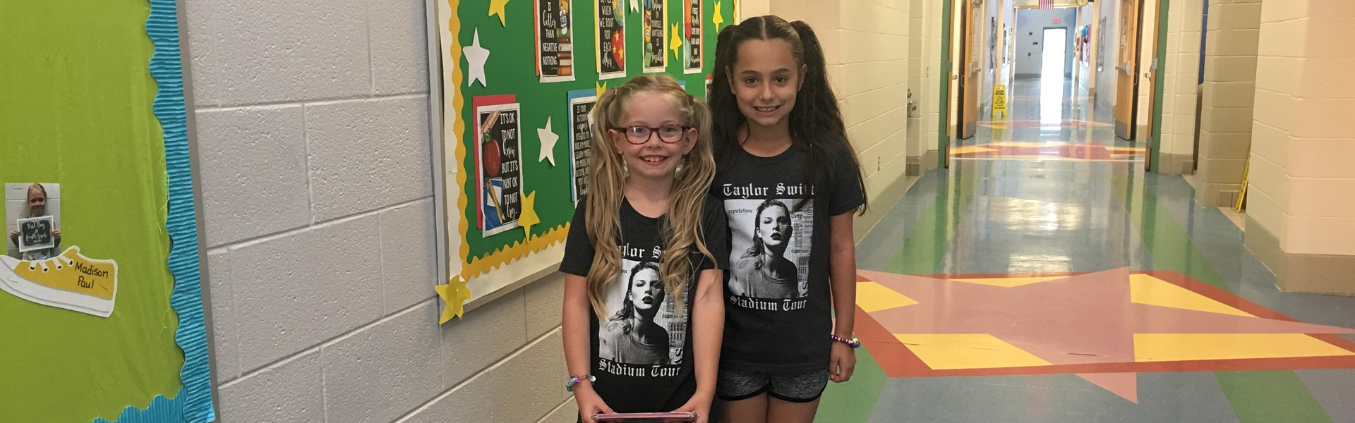 "WCIS Spirit Week-Promoting Good Attendance-""Twinning Tuesday"" because attendance is twice as important!!!"