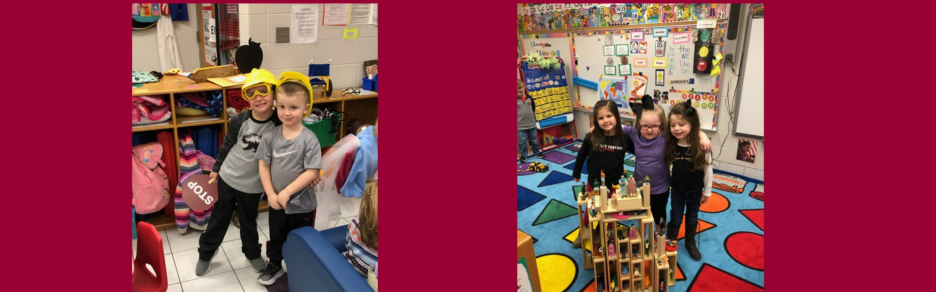 Mrs. Erika Gabbard's Preschool class have been learning about Construction.